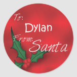 Dylan Personalized Holly Label45 Stickers
