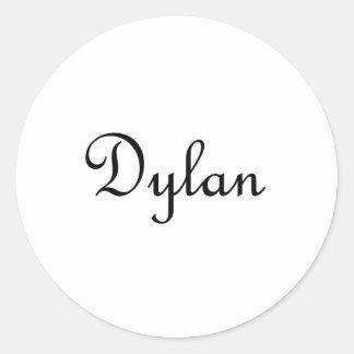 Dylan Round Stickers