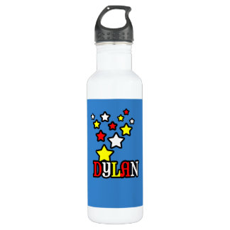 Dylan Shooting Stars Personalized Water Bottle
