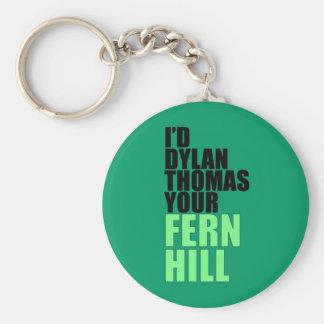 Dylan Thomas, Fern Hill Keychain