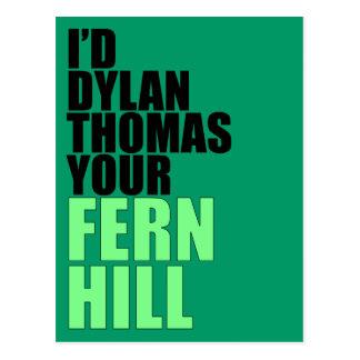 Dylan Thomas, Fern Hill Postcard