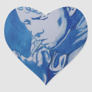 Dylan Thomas Heart Sticker