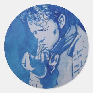 Dylan Thomas Round Stickers