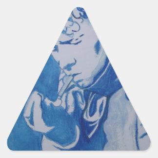 Dylan Thomas Triangle Sticker
