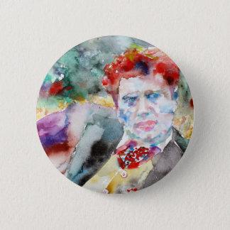 dylan thomas - watercolor portrait.2 button