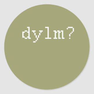 dylm etiqueta redonda