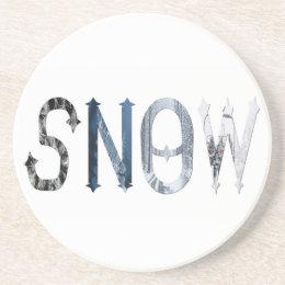 Dymond Speers SNOW BEVERAGE COASTER