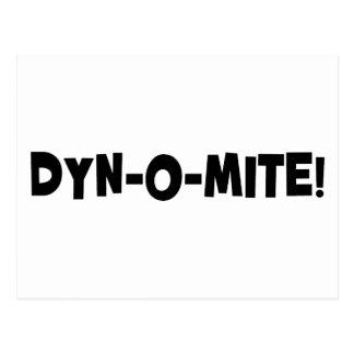 Dyn-o-mite! Postcard