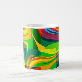 Dynamic abstract coffee mug
