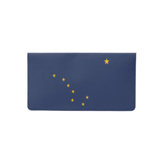 Dynamic Alaska State Flag Graphic on a Checkbook Cover