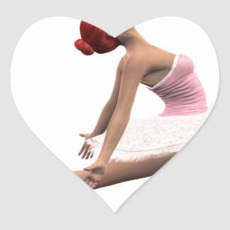 Dynamic Ballet Move Heart Sticker