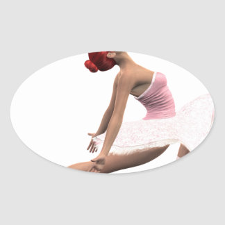 Dynamic Ballet Move Oval Sticker