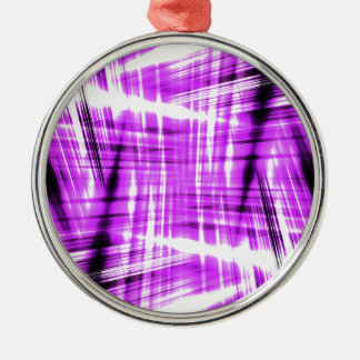 Dynamic black and purple streaks metal ornament