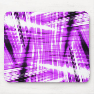 Dynamic black and purple streaks mouse pad