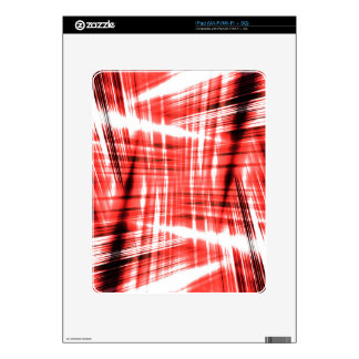 Dynamic black and red streaks decals for the iPad