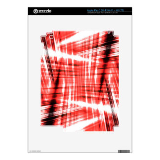 Dynamic black and red streaks iPad 3 decal