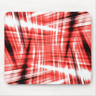 Dynamic black and red streaks mouse pad