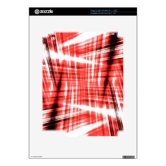 Dynamic black and red streaks skin for iPad 2