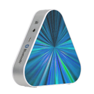 Dynamic blue starburst bluetooth speaker