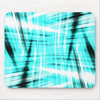 Dynamic blue streaked background mouse pad