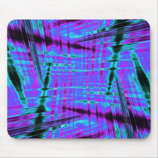 Dynamic blue streaked pattern mouse pad