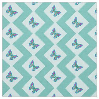 Dynamic Butterfly Chevron Pattern Fabric