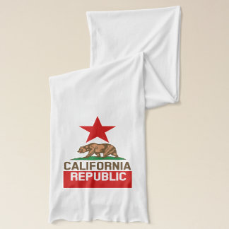 Dynamic California State Flag Graphic on a Scarf