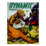 DYNAMIC COMICS Cool Vintage Comic Book Cover Art Poster