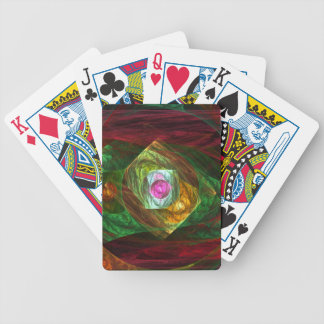 Dynamic Connections Abstract Art Bicycle Playing Cards