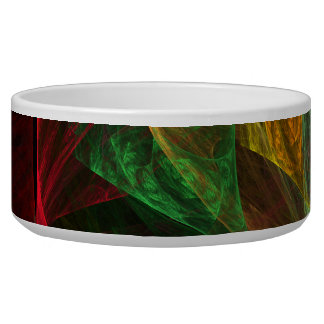 Dynamic Connections Abstract Art Dog Bowl