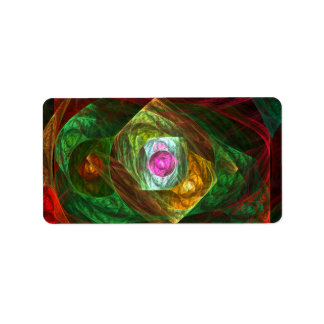Dynamic Connections Abstract Art Label