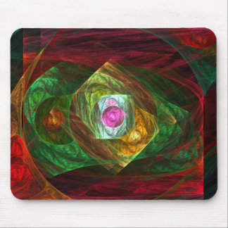 Dynamic Connections Abstract Art Mousepad
