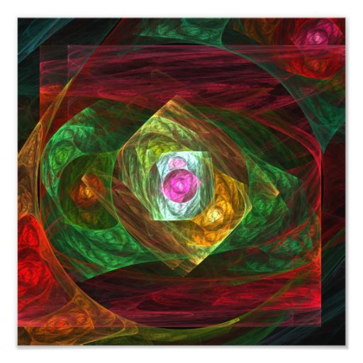 Dynamic Connections Abstract Art Photo Print