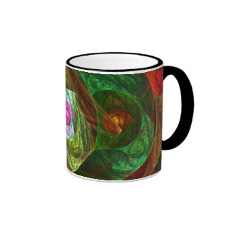 Dynamic Connections Abstract Coffee Mug