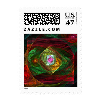 Dynamic Connections Abstract Postage Stamp
