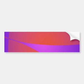 Dynamic Contrast Purple and Orange Car Bumper Sticker