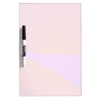 Dynamic Contrast Purple and Orange Dry Erase Board