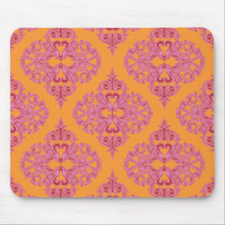 Dynamic Damask Pink, Orange and Red Mousepads