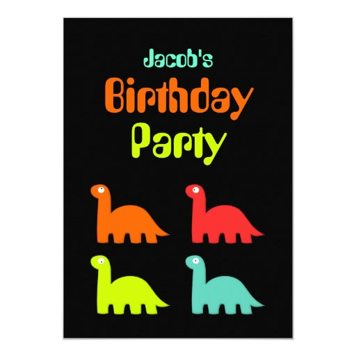 Dynamic Dinos Birthday Party Invitation Jacob