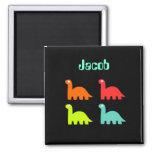 Dynamic Dinos Name Fridge Magnet Jacob