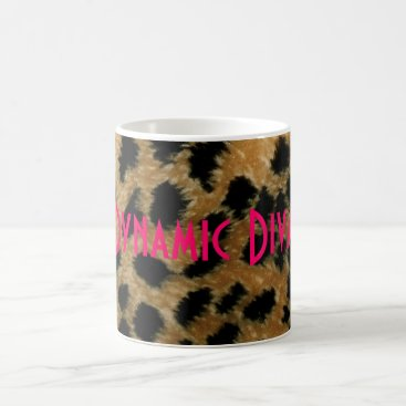 Coffee Themed Dynamic Diva leopard mug