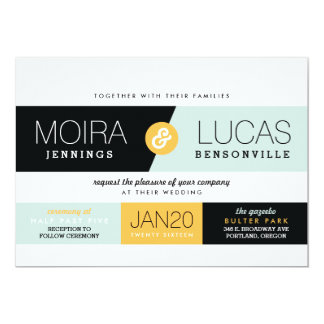 Dynamic Duo Modern Wedding Invitation