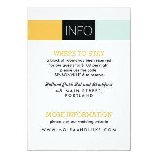 Dynamic Duo Modern Wedding Invitation Information