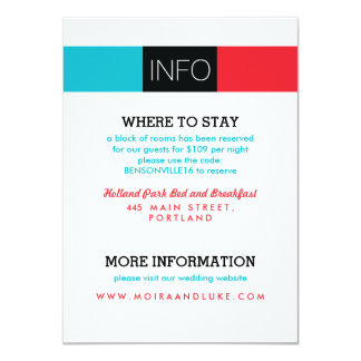 Dynamic Duo Modern Wedding Invitation Information