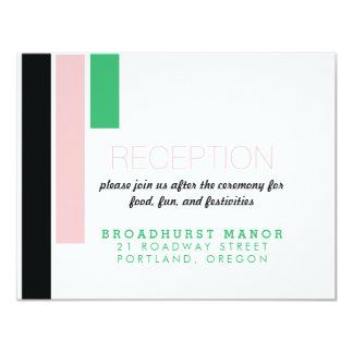 Dynamic Duo Modern Wedding Invitation Reception