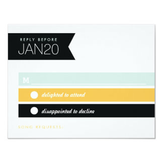 Dynamic Duo Modern Wedding Invitation Reply RSVP