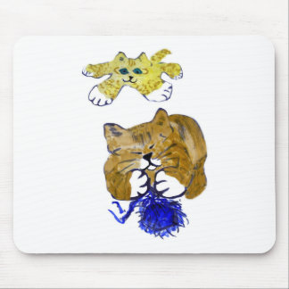 Dynamic Duo Shred the Blue Yarn Mouse Pad