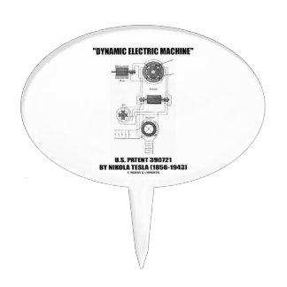 Dynamic Electric Machine U.S. Patent Nikola Tesla Cake Topper