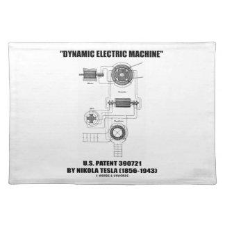Dynamic Electric Machine U.S. Patent Nikola Tesla Cloth Place Mat