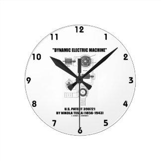 Dynamic Electric Machine U.S. Patent Nikola Tesla Round Clock